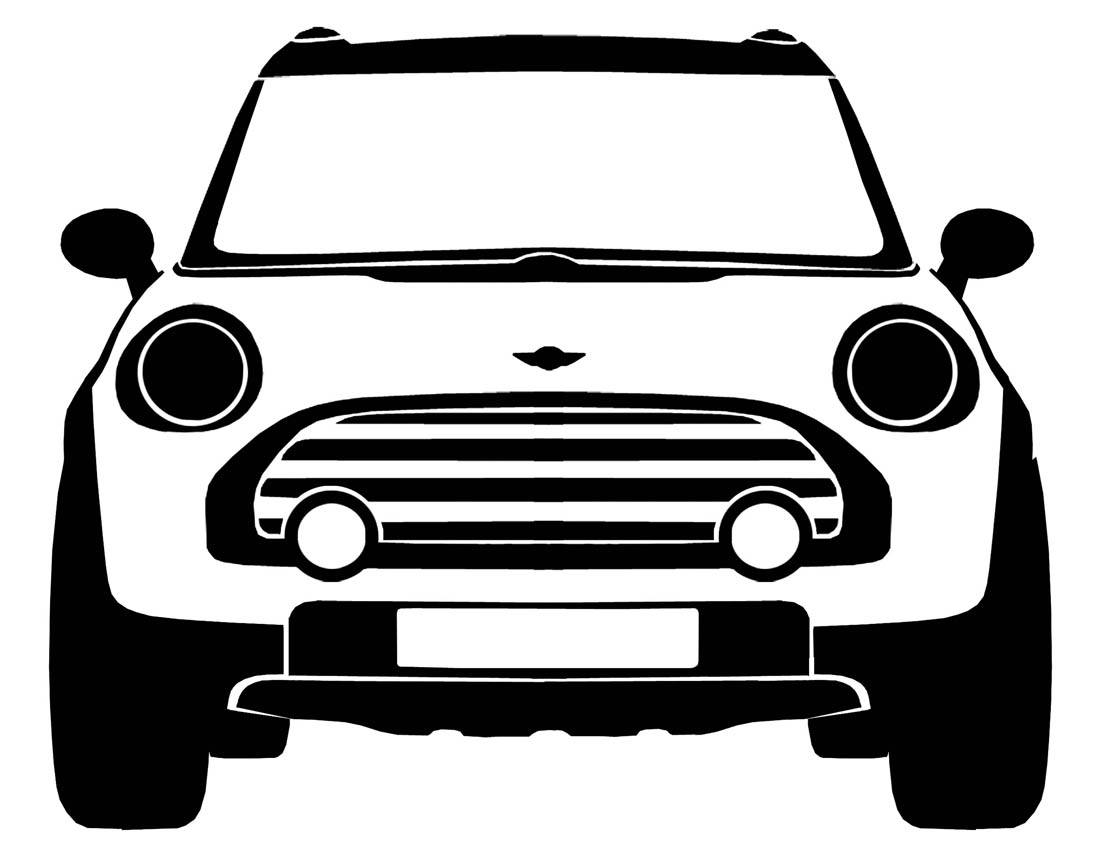 Front Grill Cartoon Old Car Clipart