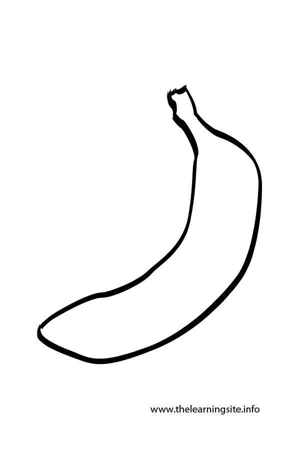 Banana Outline - ClipArt Best