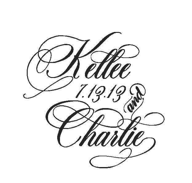Cursive font lettering art studio page clipart