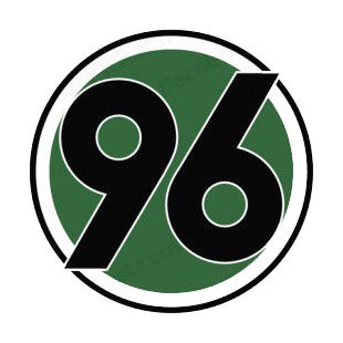 Hannover 96 soccer team logo soccer teams decals, decal sticker #
