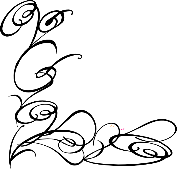 Vector Line Drawing Flower Pattern : Line drawing swirl flower pattern vector graphic free