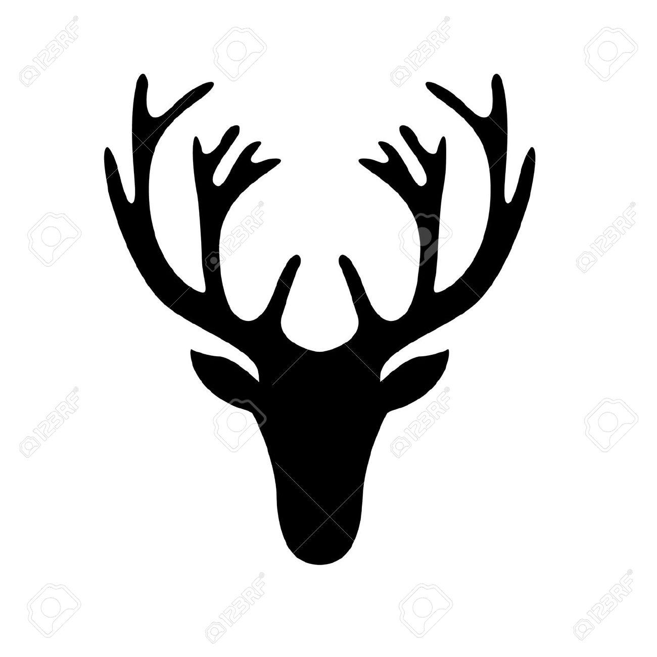 stag head silhouette vector clipart best deer skull logo design deer skull logo design