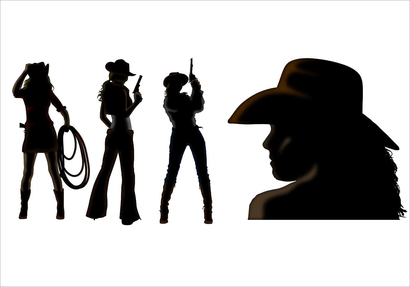 cowboy silhouette images clipart best