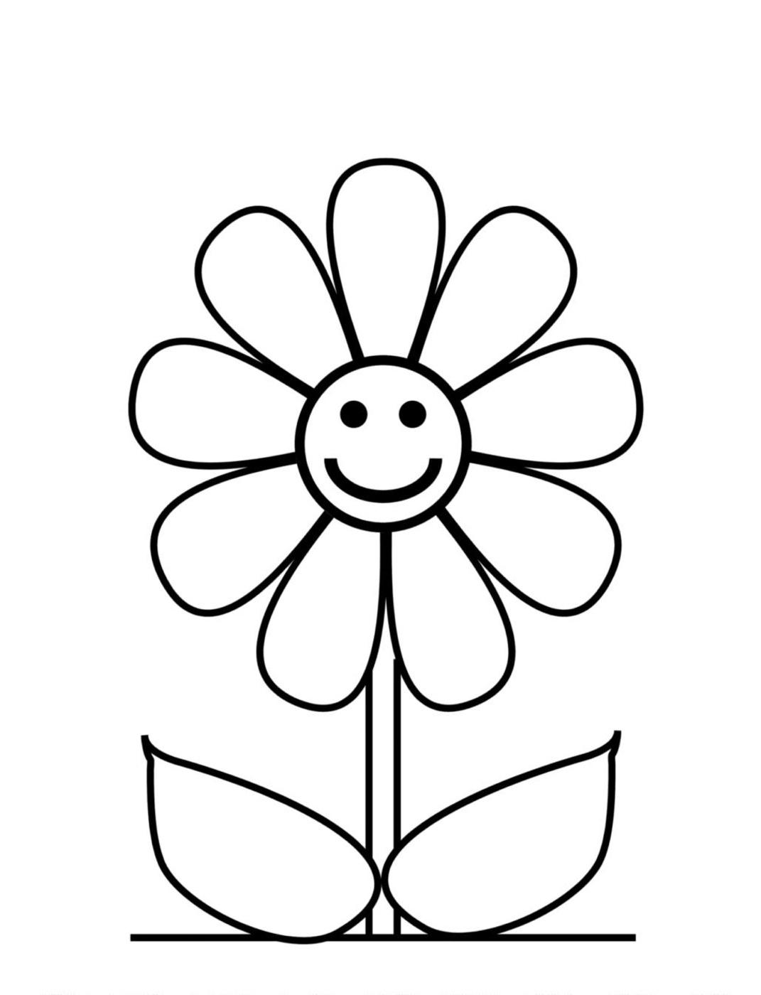easy cute drawings of flowers - photo #16