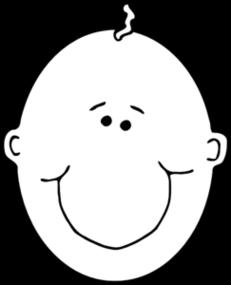 Kleurplaat Kale Kerstboom Baby Face Clipart Clipart Best