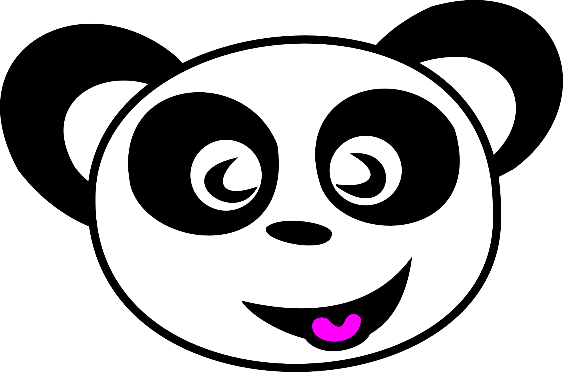happy panda face bear teddy bear xmas christmas ...