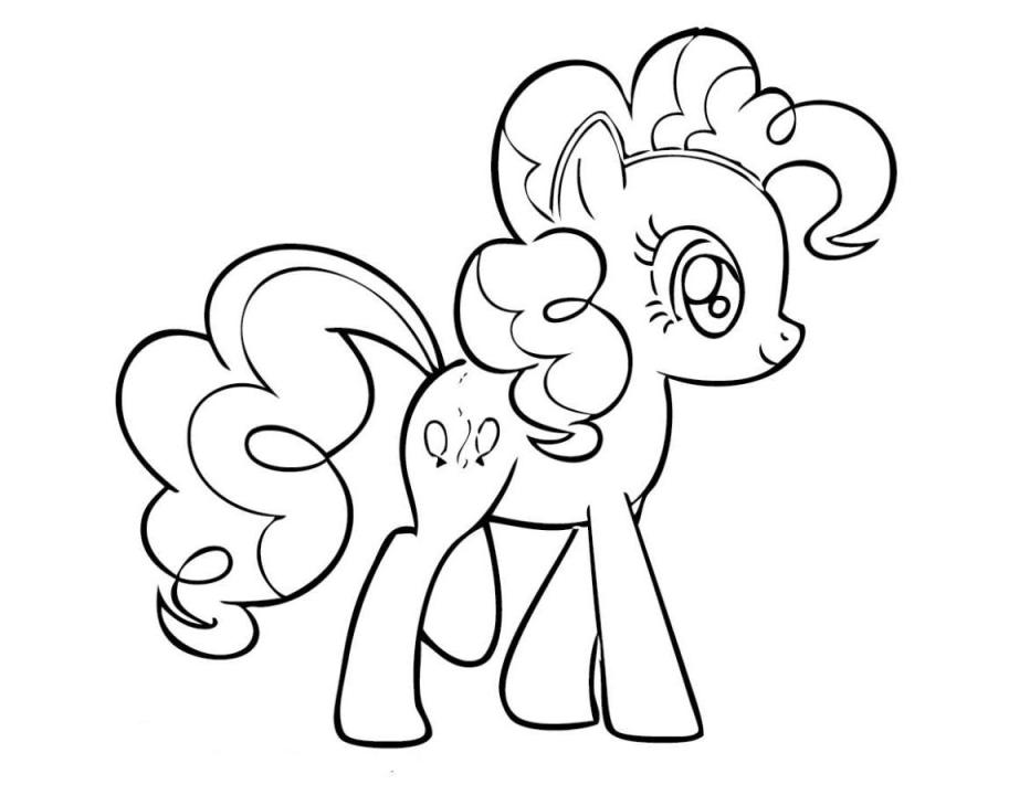 Print Little Pony Magic Coloring Pages Pinkie Pie | Hagio Graphic