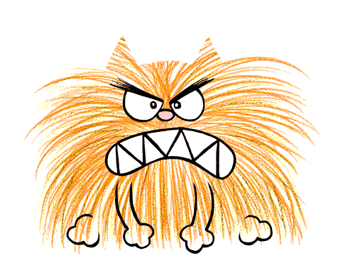 Angry Cat!   The Name Of This Cartoon Is Brunswick ...