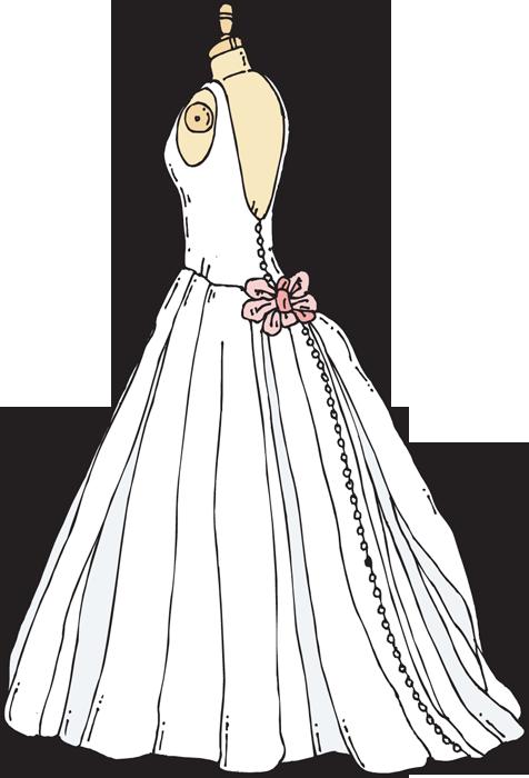 Cartoon wedding dresses clipart best