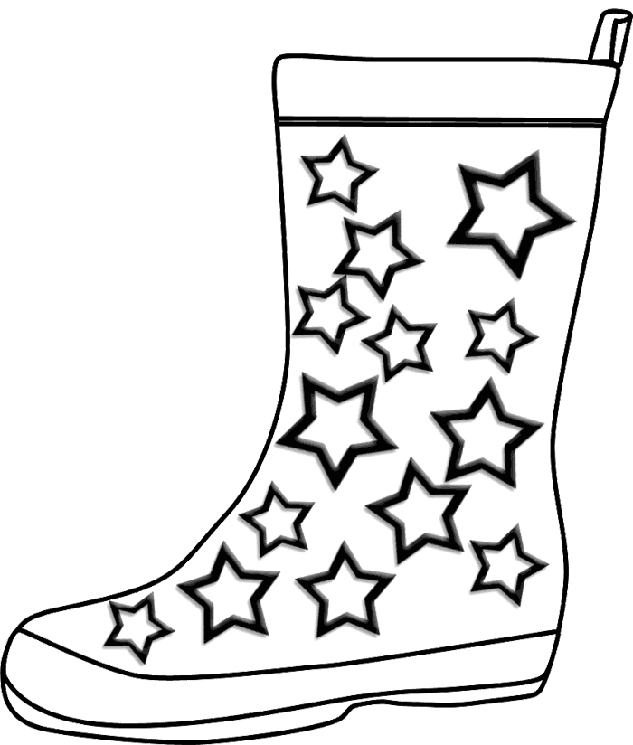 Winter Coloring Pages : Childrens Winter Boots Coloring Page Kids ...