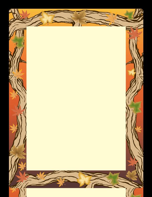 Paper Margin Design Autum Paper Border Design