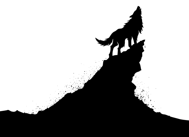 Pics Photos - Black And White Howling Wolf Clip Art