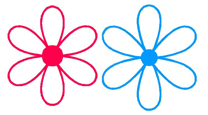pink daisies clip art