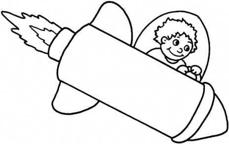 Boy On A Space Rocket Coloring Page Super Coloring