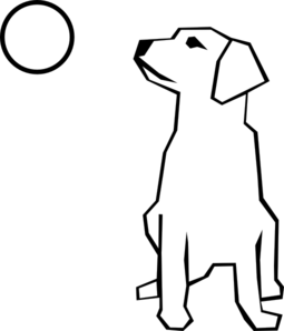 Simple Dog clip art - vector clip art online, royalty free ...