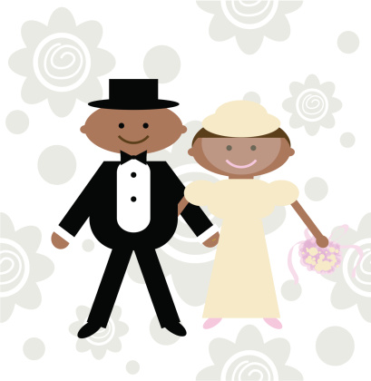 African American Wedding Clipart - ClipArt Best