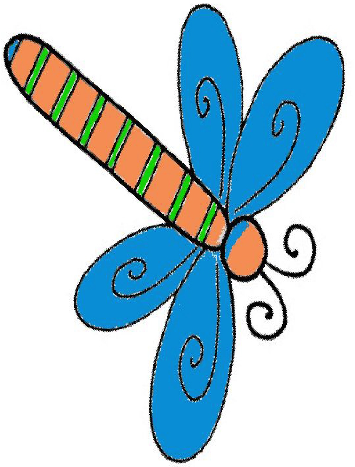 Cute Dragonfly Clipart Cartoon Dragonfly Clipart
