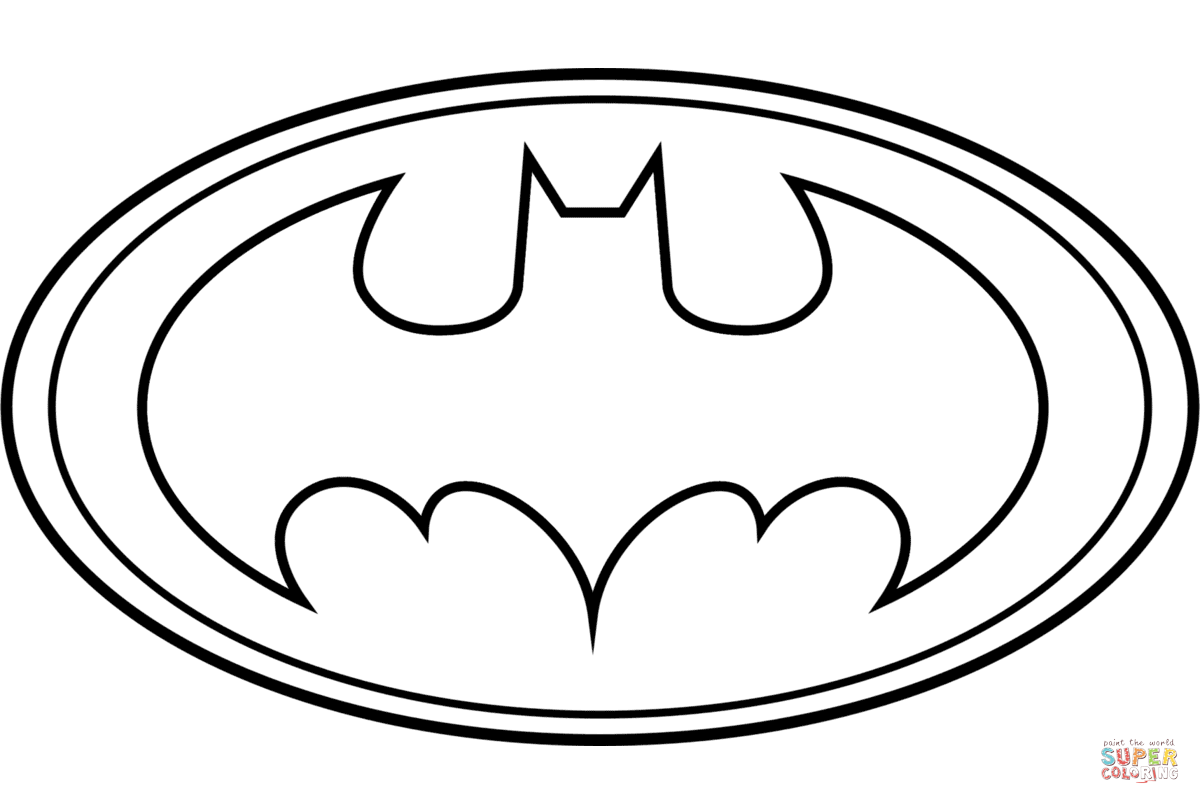 Batman Logo coloring page | Free Printable Coloring Pages