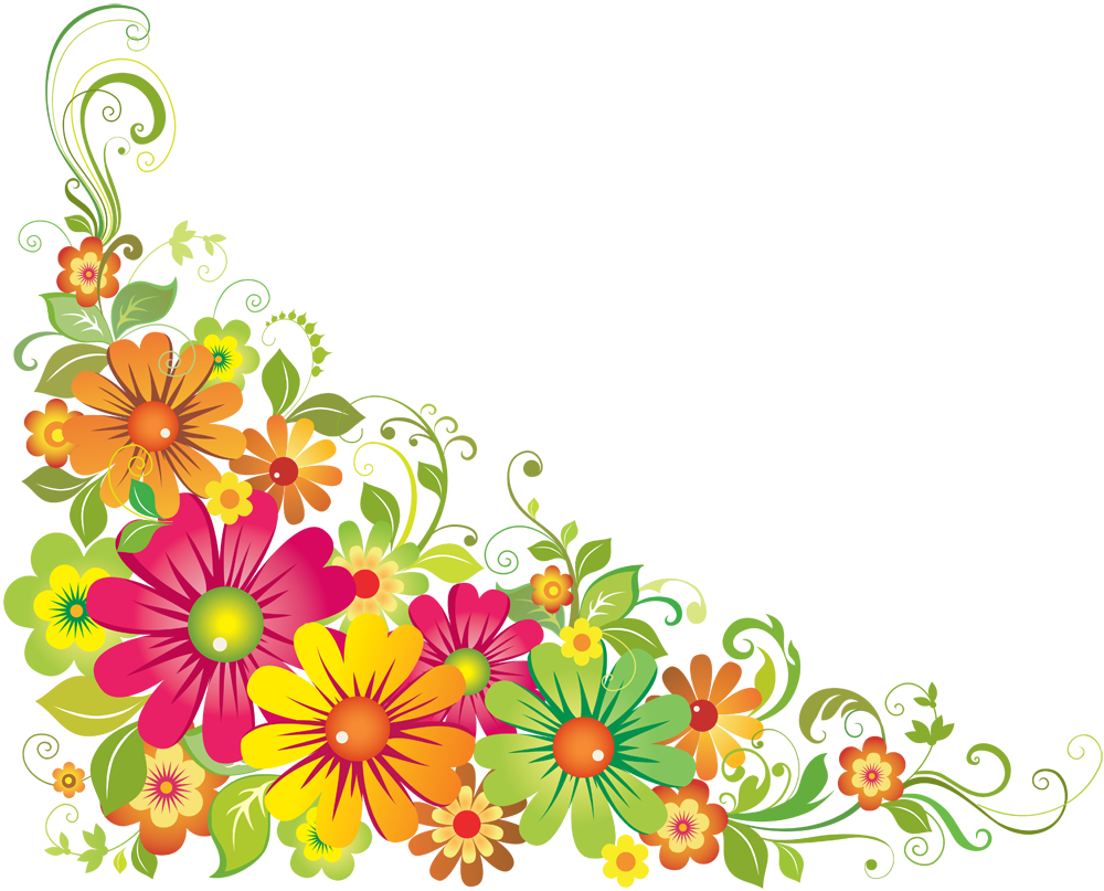 Line Art Flower Corner : Corner flowers clipart best