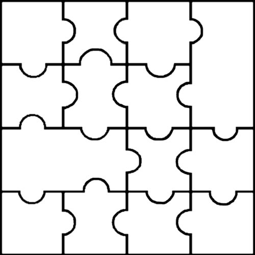 Blank jigsaw templates clipart best for Large blank puzzle pieces template