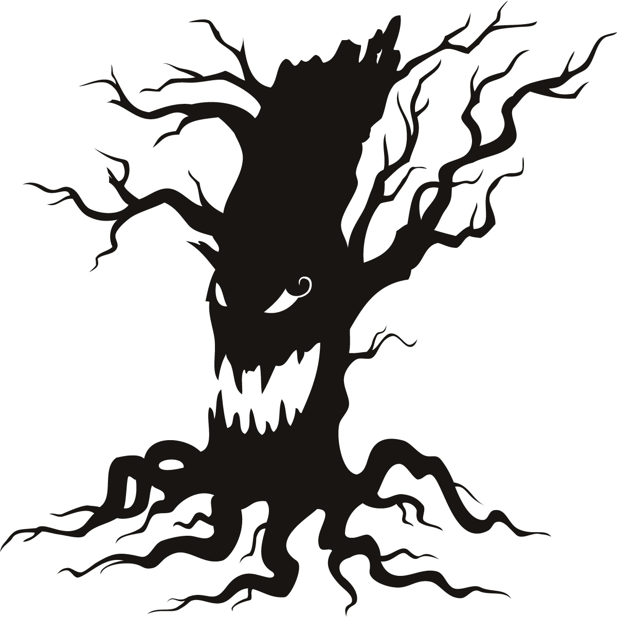Scary Tree Clip Art - ClipArt Best