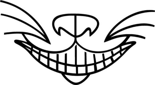Free Printable Cheshire Cat Smile