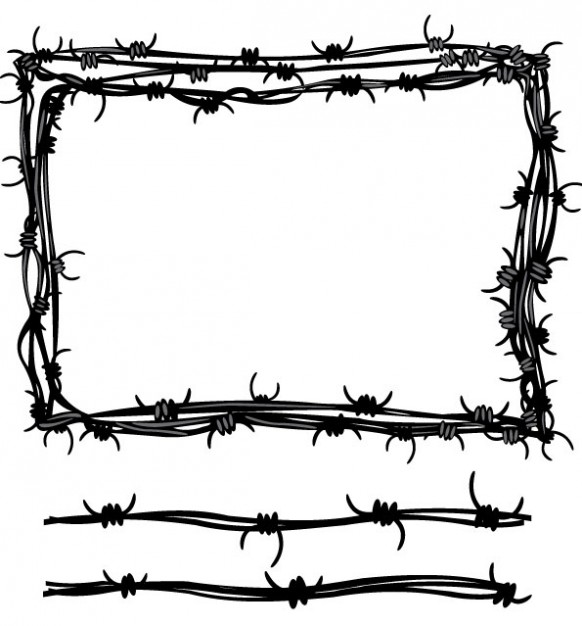 Barb wire vector clipart best