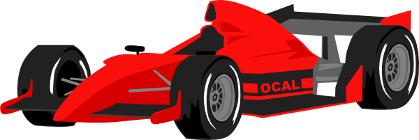 Red Racing Car Clipart Free Red Formula One Race Car