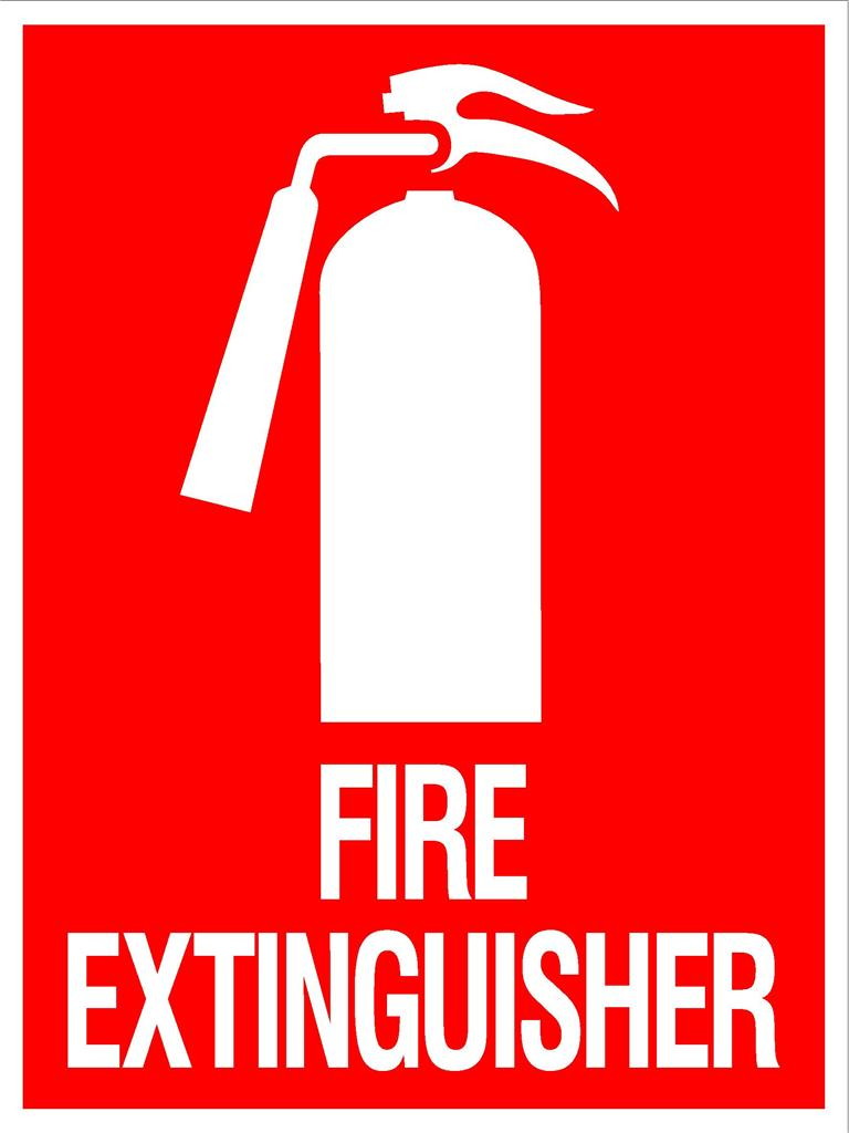 Satisfactory image intended for printable fire extinguisher signs