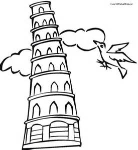 Leaning Tower Of Pisa Coloring Page Google Twit Clipart Best Clipart Best Leaning Tower Of Pisa Coloring Page
