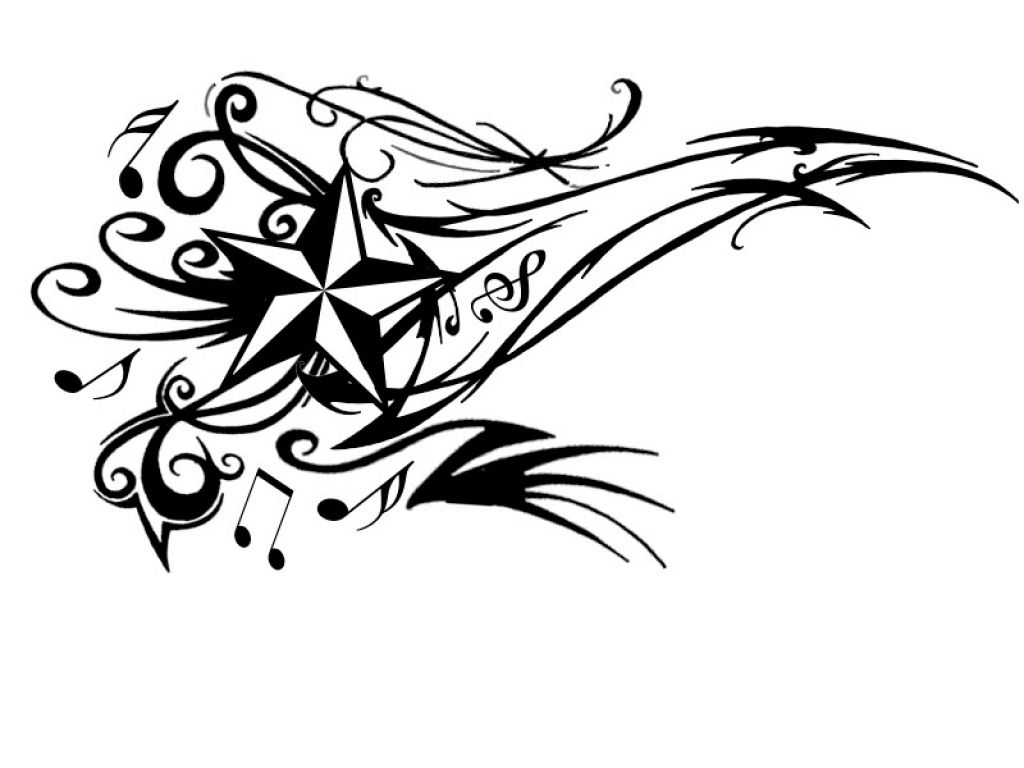 music star tattoo design clipart best