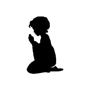Silhouette Children Praying - ClipArt Best