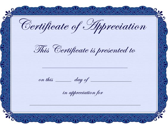 Certificate Of Appreciation  1519 Free Downloads  Vecteezy