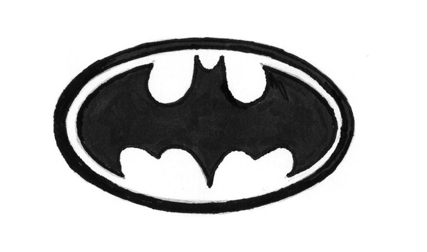 How to Draw the Batman Logo (symbol, emblem) - YouTube