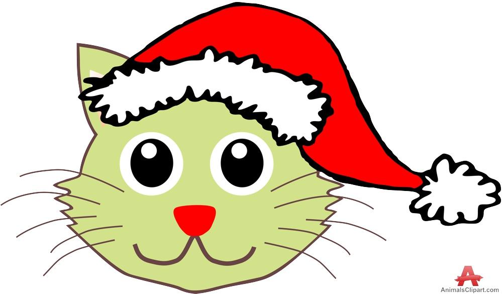 free christmas kitten clipart - photo #33