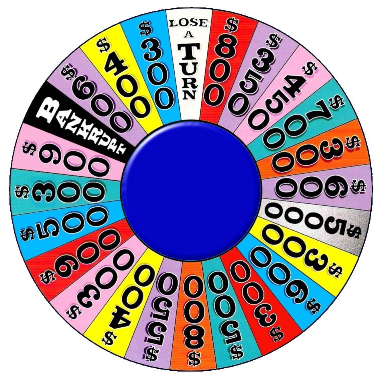 Wheel Of Fortune Printable