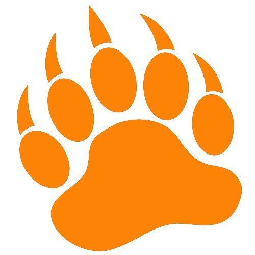 Large Orange Paw Print - ClipArt Best