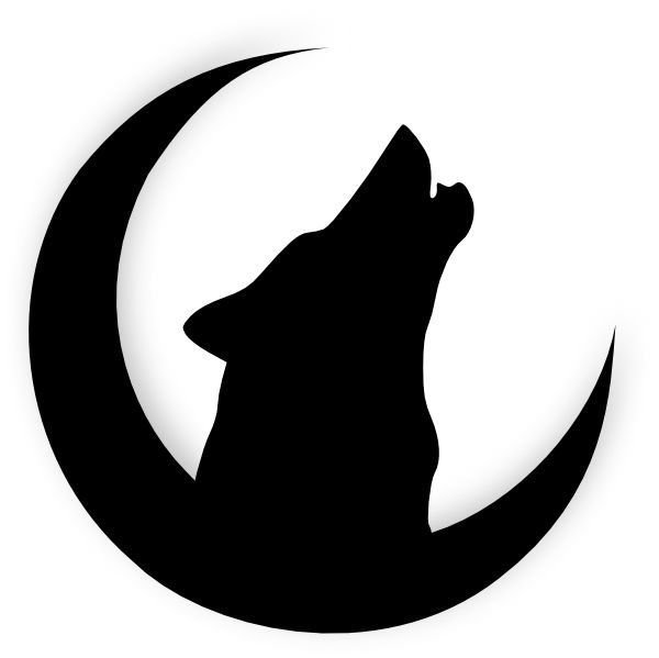 Howling Wolf Outline - ClipArt Best