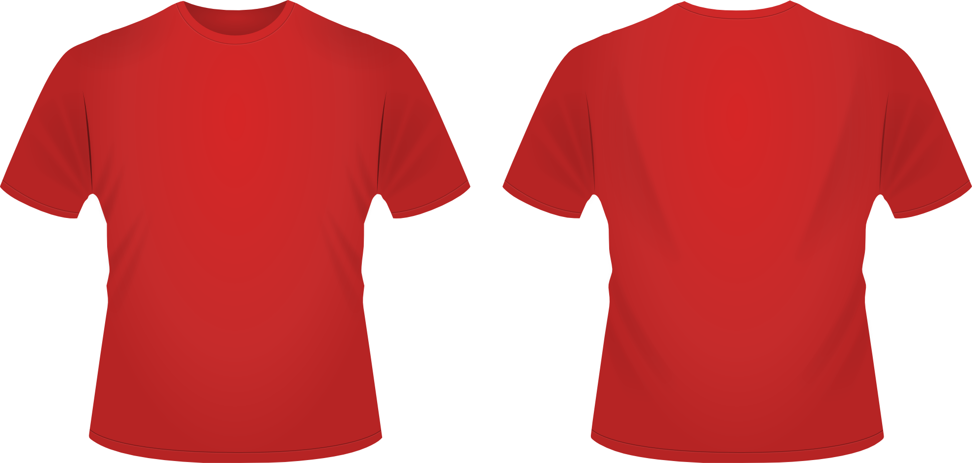 T-shirt Template Red - ClipArt Best
