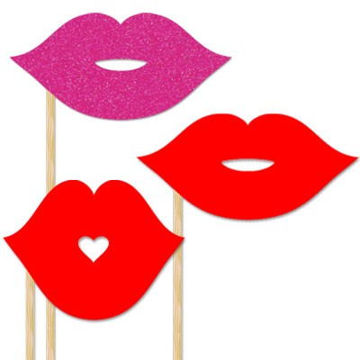 Best Photos of Printable Lips On A Stick - Red Lips Photo ...