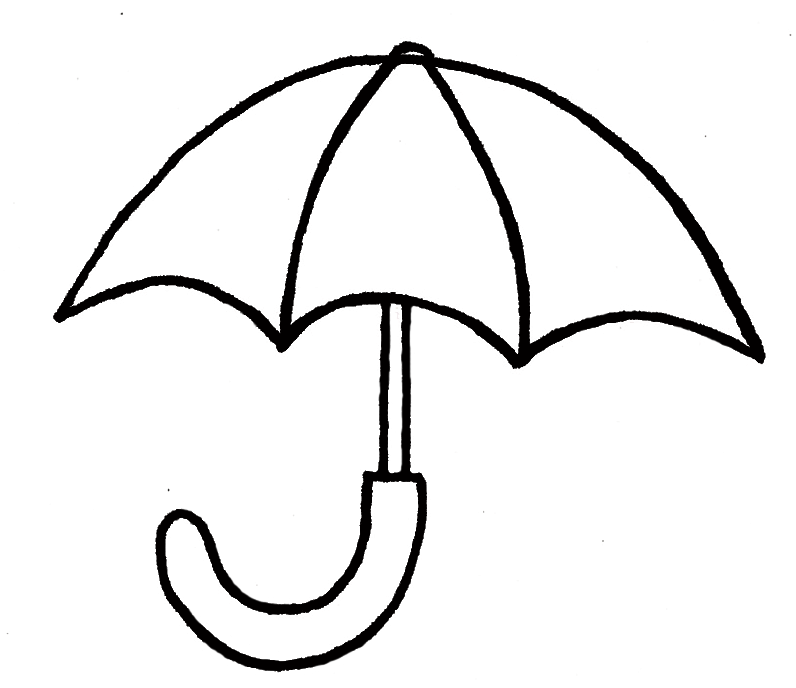 Line Drawing Umbrella : Drawings of a umbrella clipart best