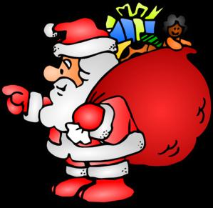 Santa Claus With His Bag clip art - vector clip art online ...