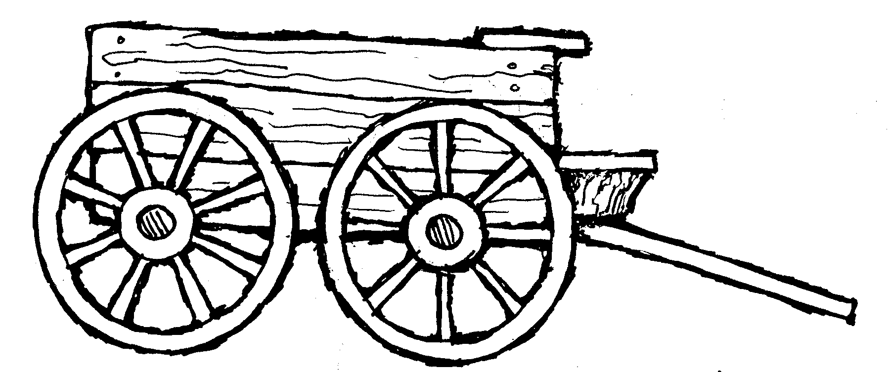 Covered wagon template clipart best for Wagon coloring pages