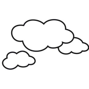 coloring clouds clipart best
