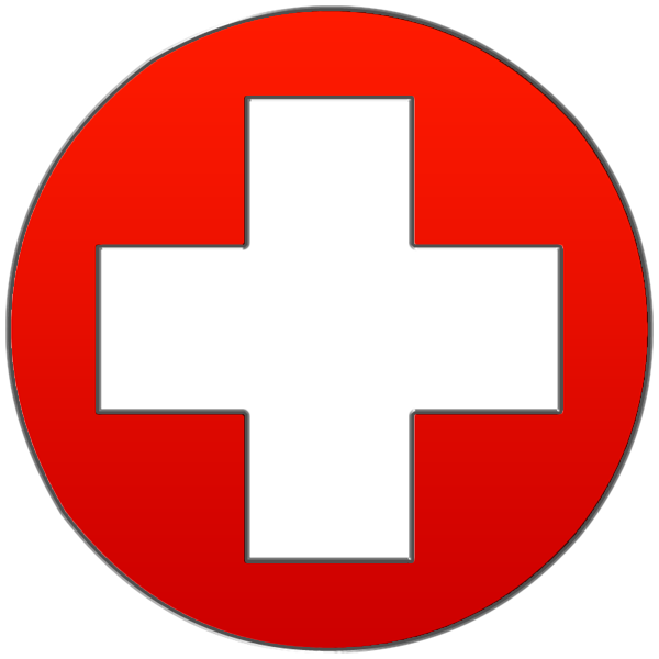 Red Cross Round Red Png