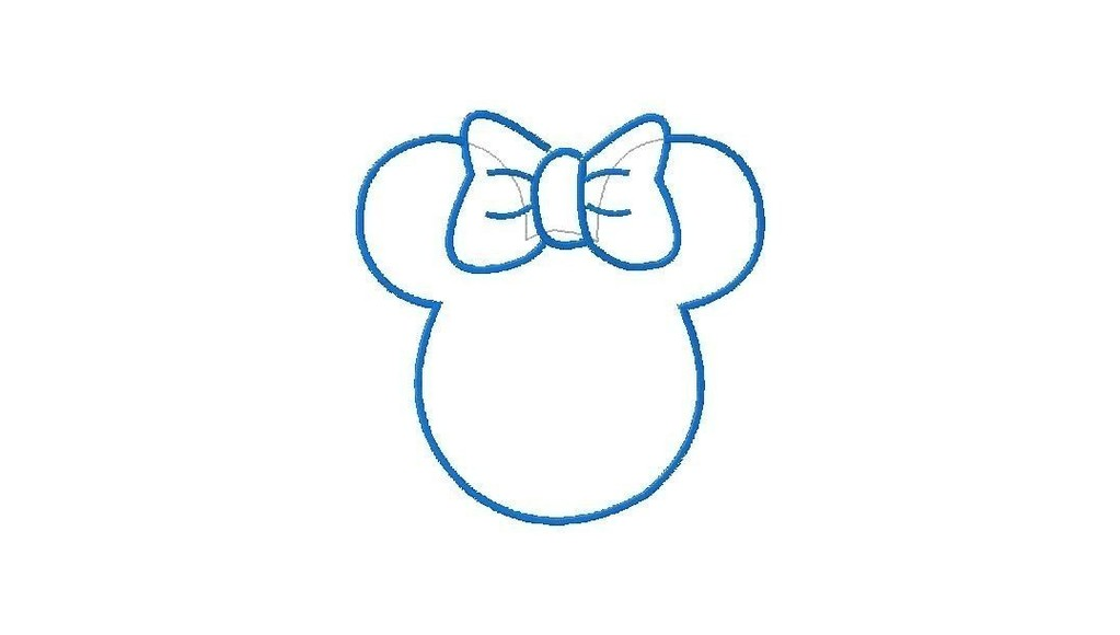 Minnie Mouse Ears Template Clipart Best