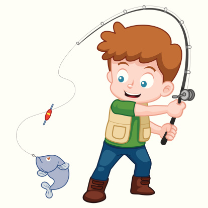Boy Fishing Clipart - ...