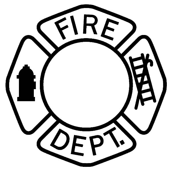 Maltese Cross Fire Dept Coloring Pages : Batch Coloring