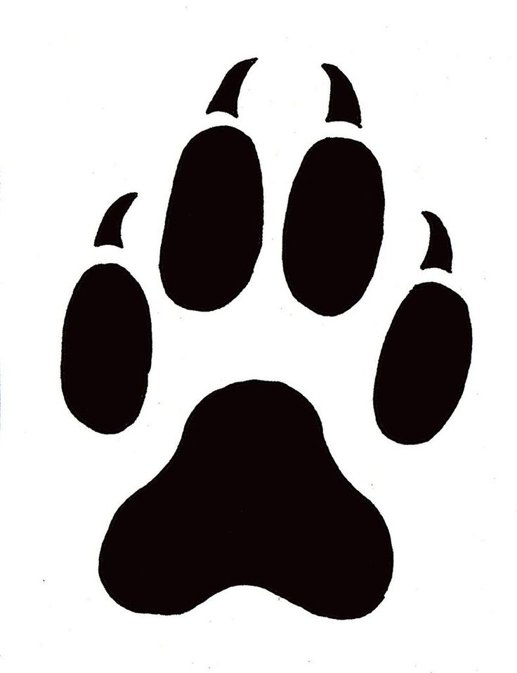 Best Photos of Paw Print Stencil Printable - Dog Paw Print ...