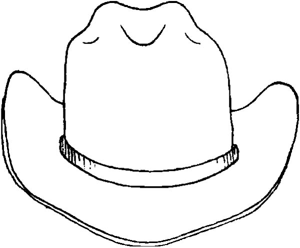 Cowboy Hat Outline Clipart Best Western Hat Coloring Page